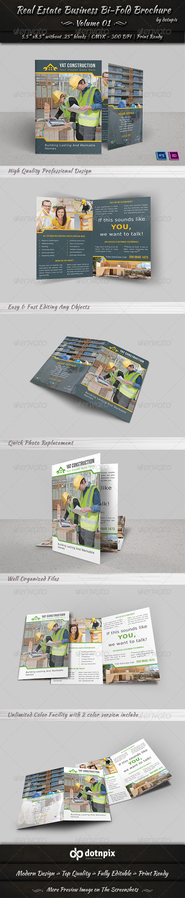 Real Estate Business Bi-Fold Brochure | Volume 1 - Corporate Brochures