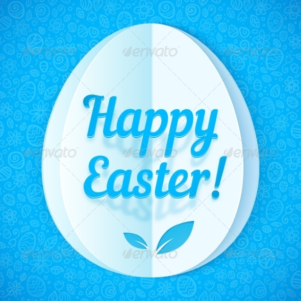 Blue Paper Easter Egg - Miscellaneous Seasons/Holidays