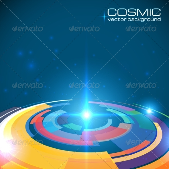 Cosmic Colorful Shining Disc Abstract Background - Backgrounds Decorative
