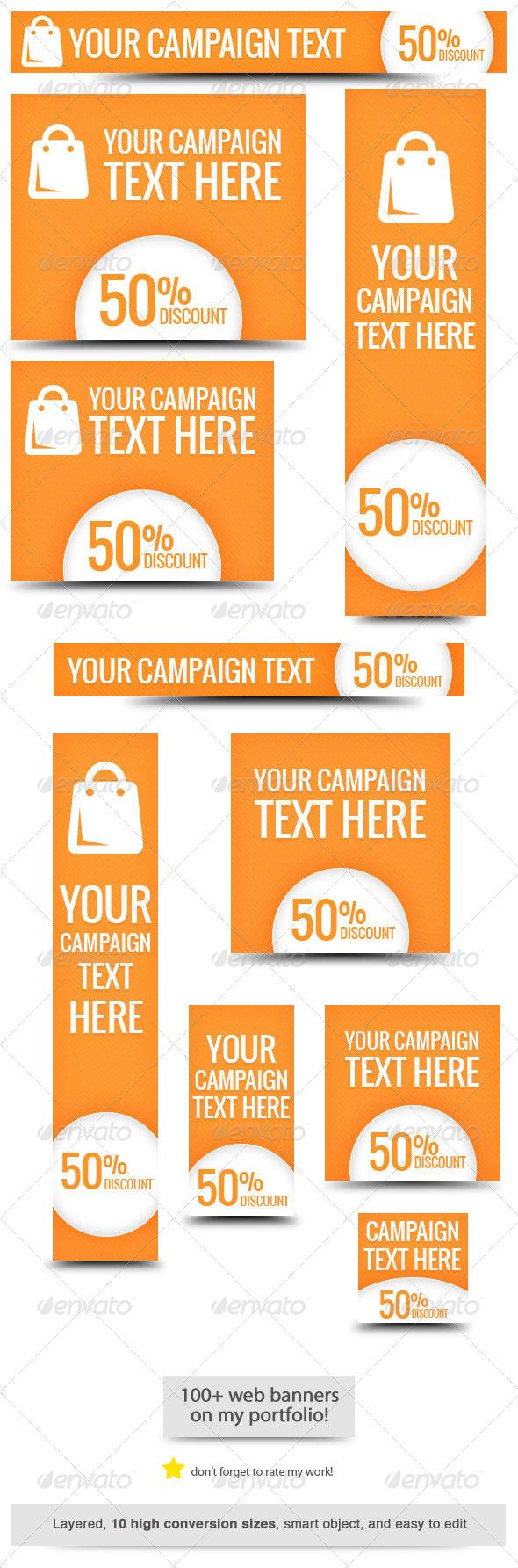 One Big Sale Web Banner Design - Banners & Ads Web Elements