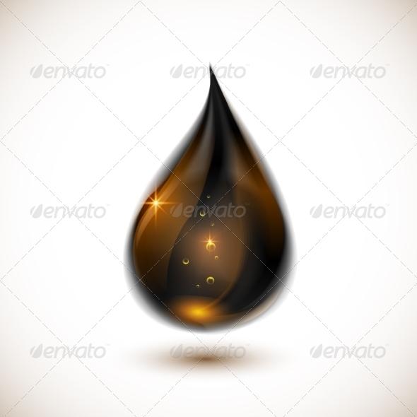 Black Oil Drop - Organic Objects Objects