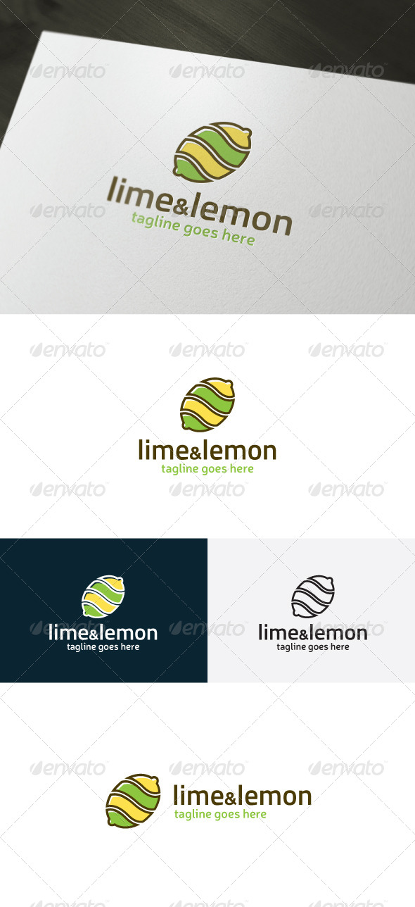Lime And Lemon Logo - Food Logo Templates