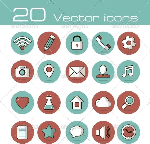 Vector Icons Set - Web Icons