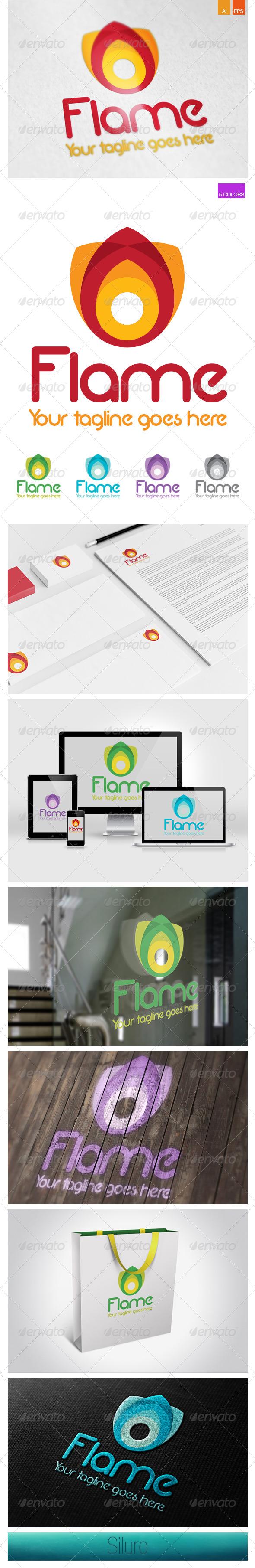Flame Multicolor Logo - Symbols Logo Templates