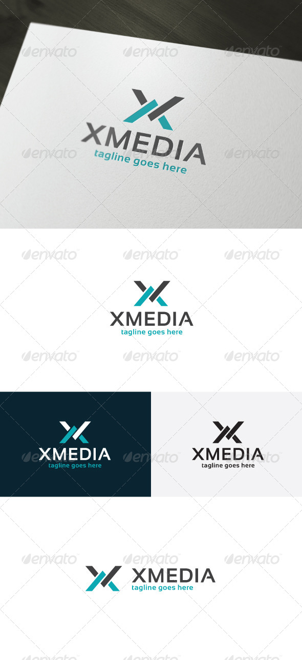 Xmedia Logo — Letter X - Letters Logo Templates