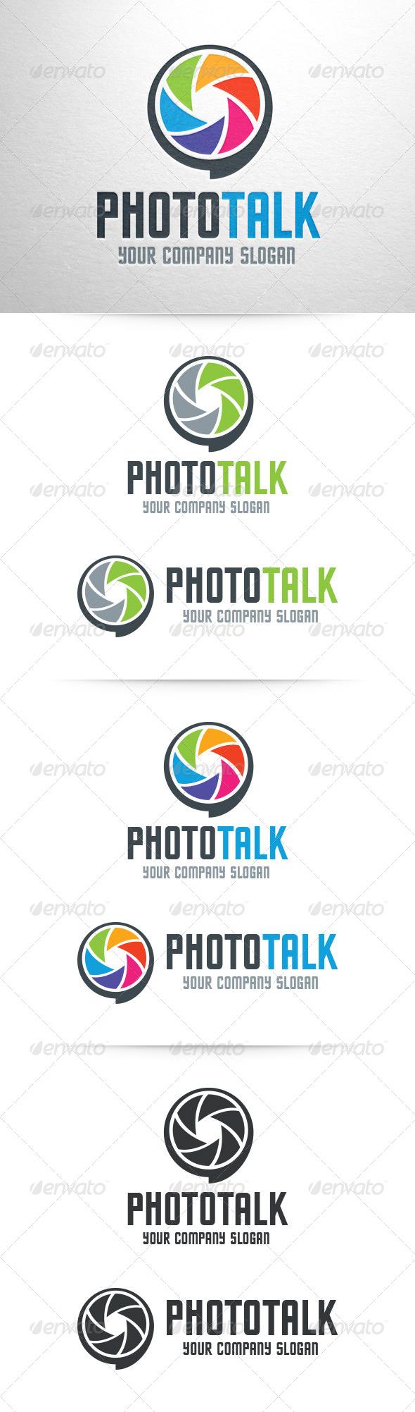Photo Talk Logo Template - Symbols Logo Templates