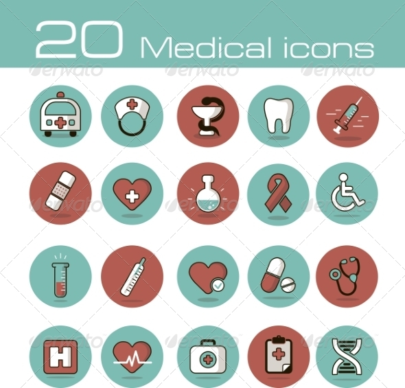Medical Icons Set - Health/Medicine Conceptual