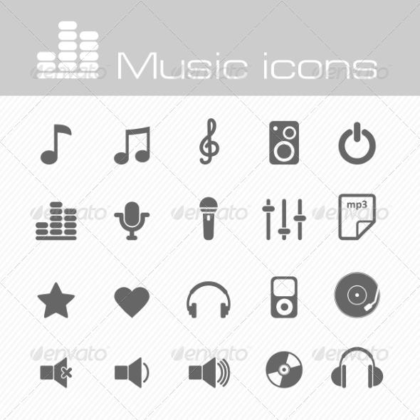 Music Icons Set - Media Icons