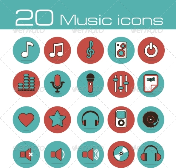 Music Icons Set - Media Icons