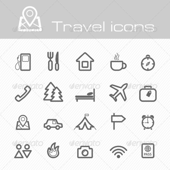 Travel Icons Set - Travel Conceptual