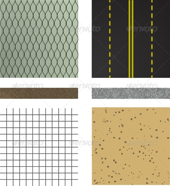 Set of Asphalt Road Textures - Industries Business