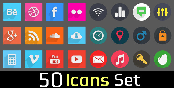 50 Icons Set - 3DOcean Item for Sale