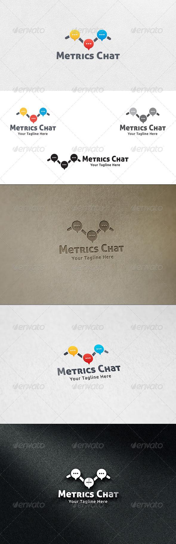 Metrics Chat - Logo Template - Symbols Logo Templates