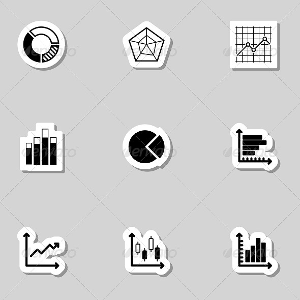 Diagram Icons Set as Labels - Objects Icons