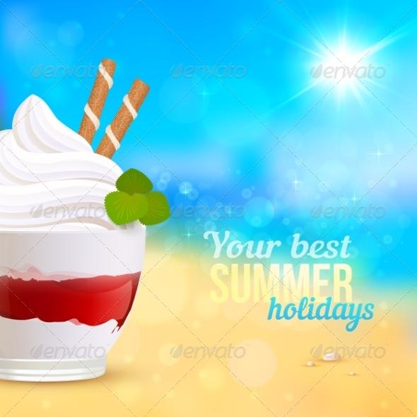Dessert on Seascape Background - Miscellaneous Seasons/Holidays