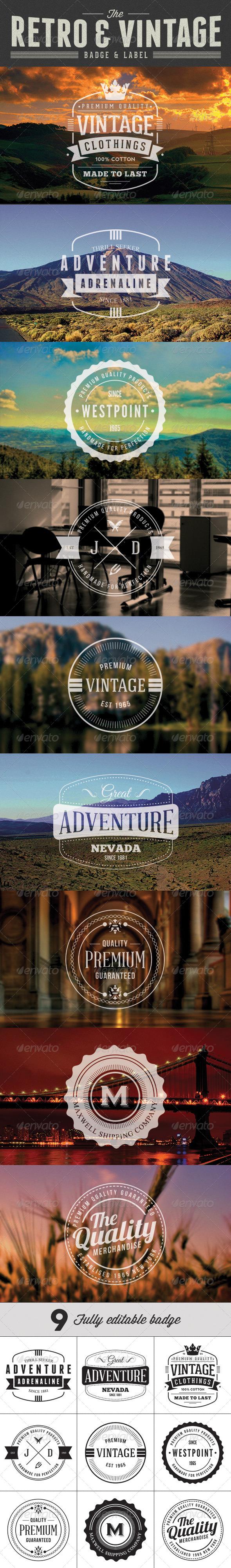 Retro Vintage Badge & Label - Badges & Stickers Web Elements