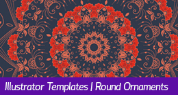 Illustrator Templates | Round Ornaments