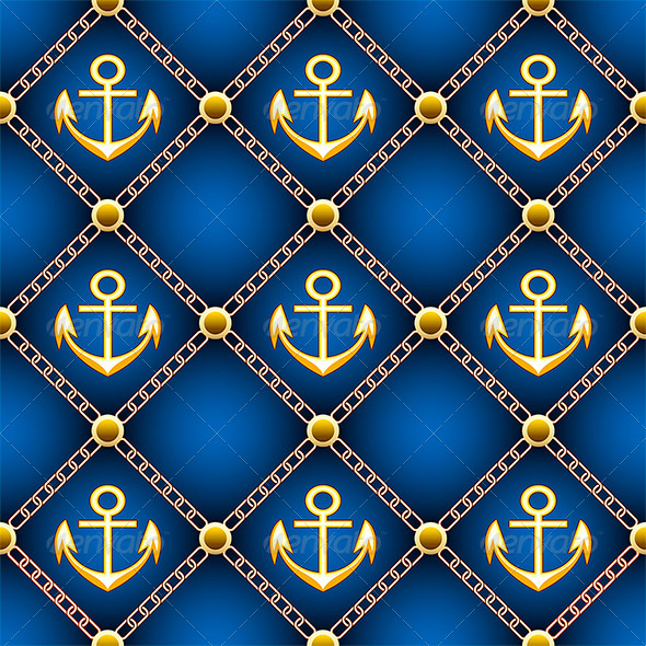 Seamless Anchor Pattern - Patterns Decorative