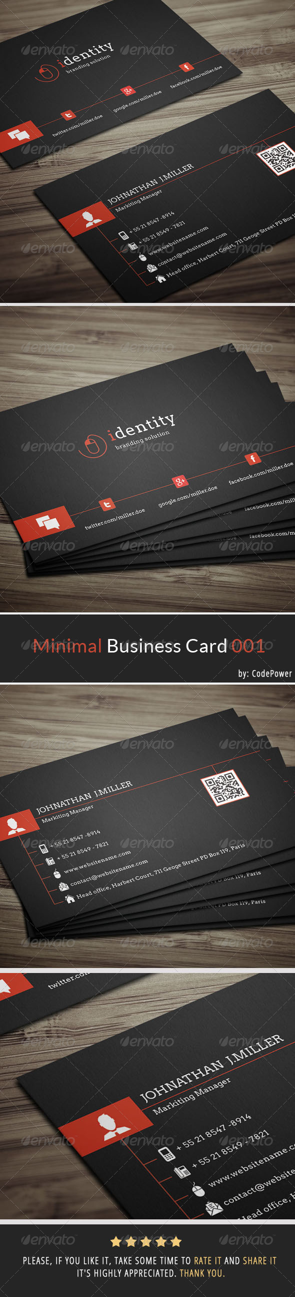 Minimal Business Card 001 - Corporate Business Cards
