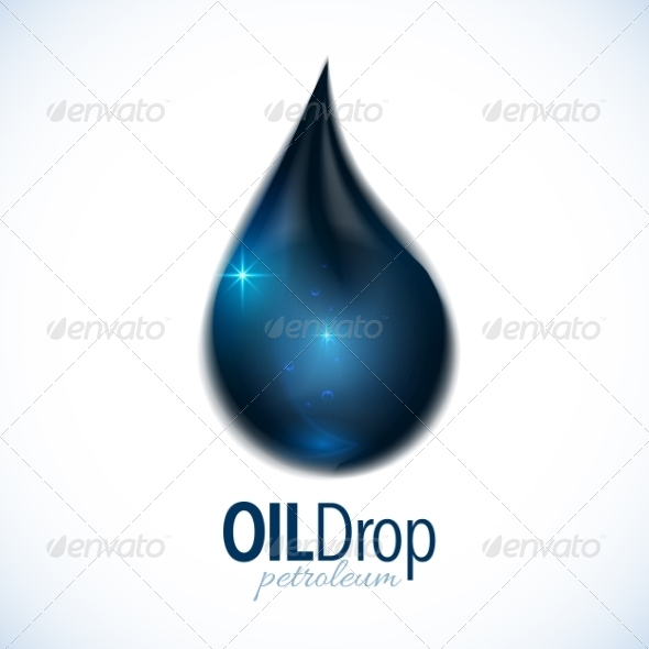 Oil Drop with Text Design - Organic Objects Objects