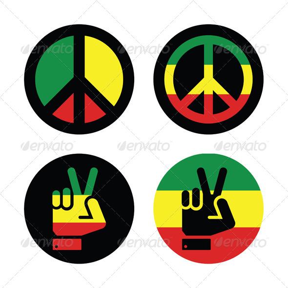Peace Symbols - Conceptual Vectors