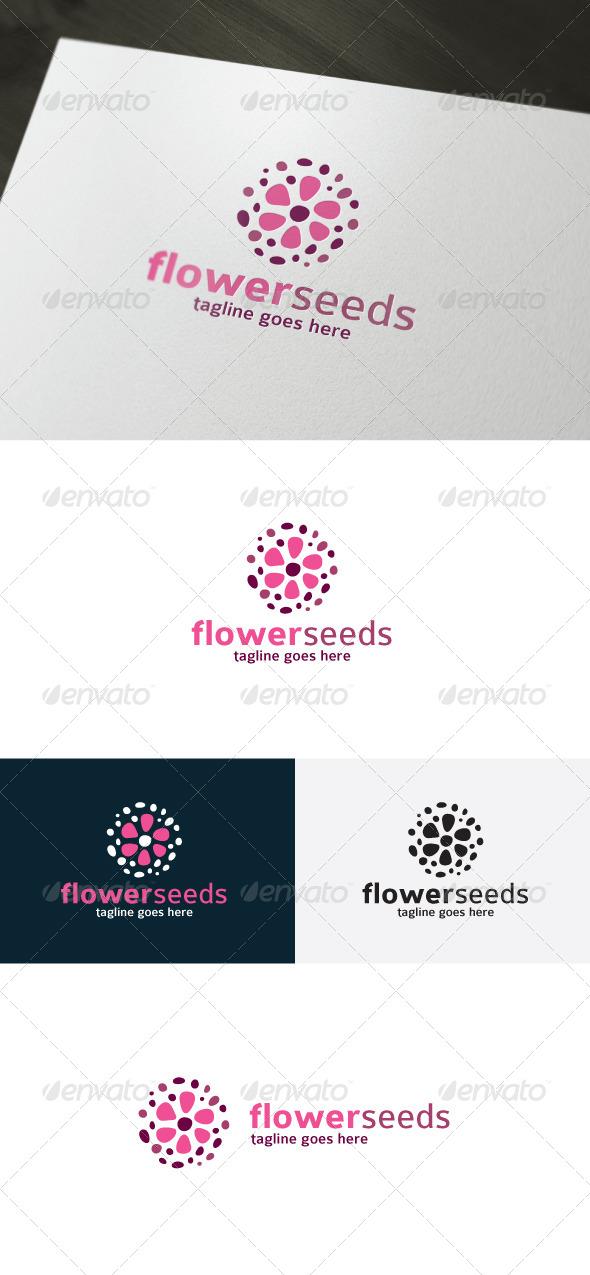 Flower Seeds Logo - Nature Logo Templates