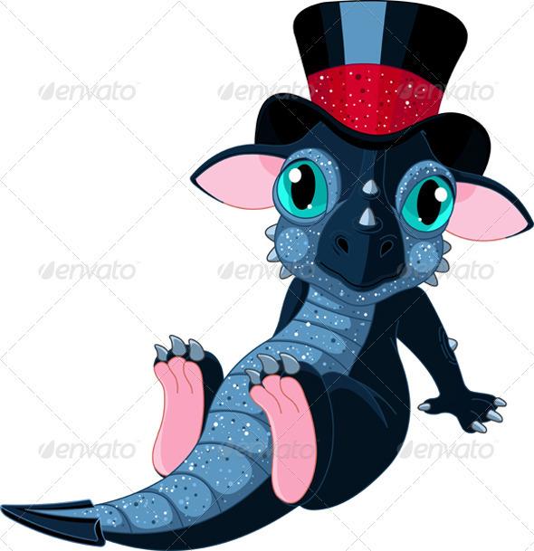 New 2012 year cartoon dragon - New Year Seasons/Holidays