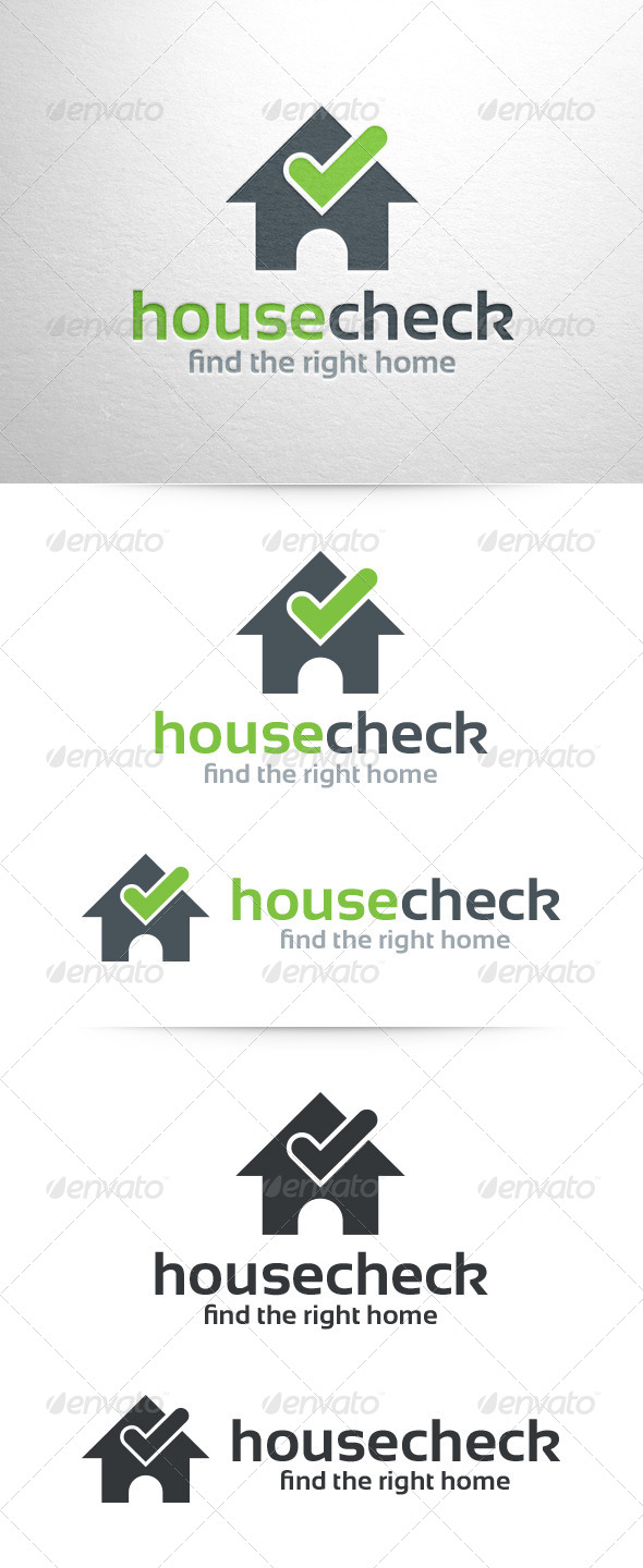 House Check Logo Template - Buildings Logo Templates