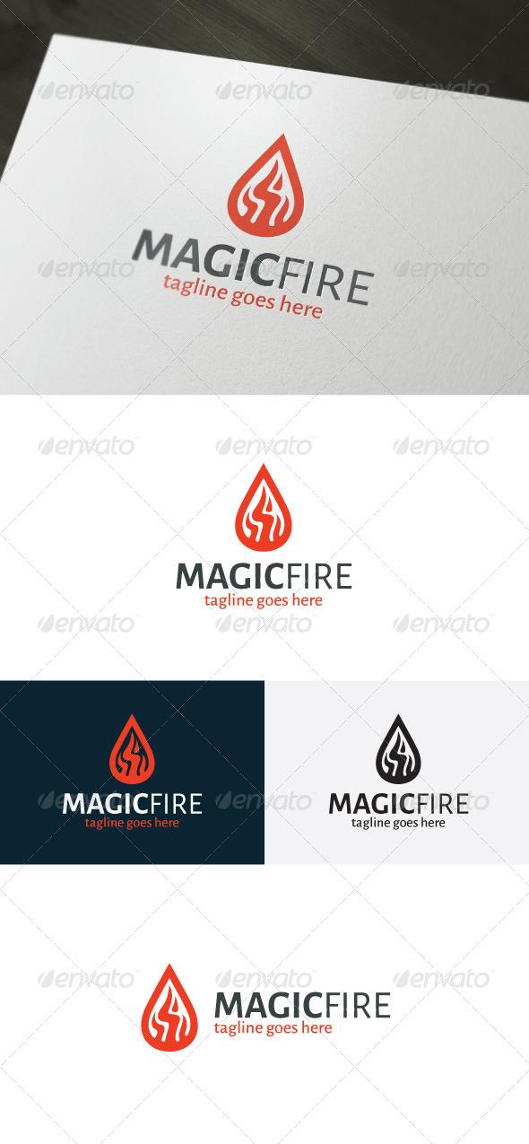 Magic Fire Logo - Vector Abstract