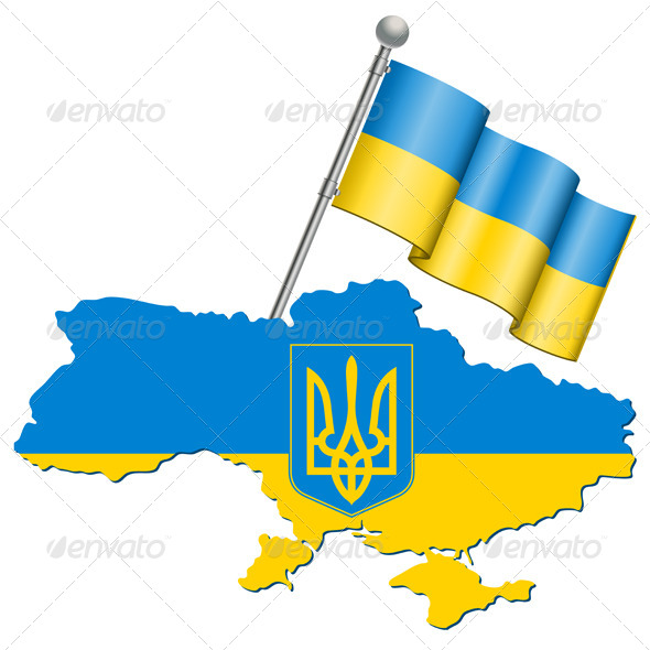 Ukraine Symbol - Travel Conceptual