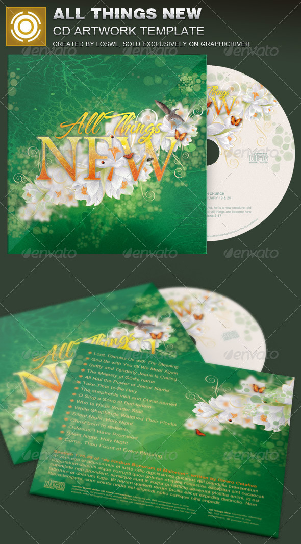 All Things New CD Artwork Template - CD & DVD Artwork Print Templates