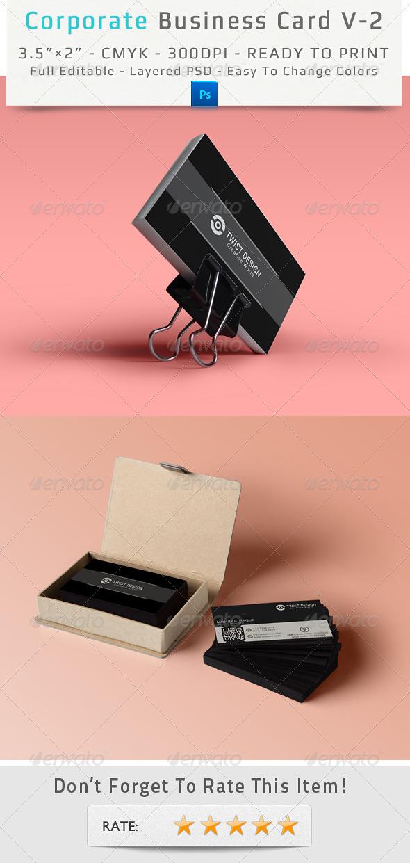 Corporate Business Card V-2 - Corporate Business Cards