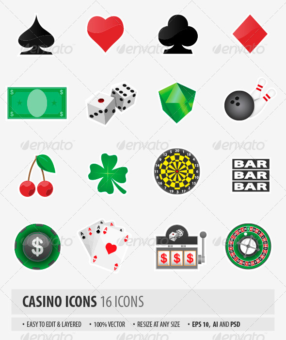 Casino Icons - Objects Icons