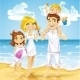 Family on Beach - GraphicRiver Item for Sale