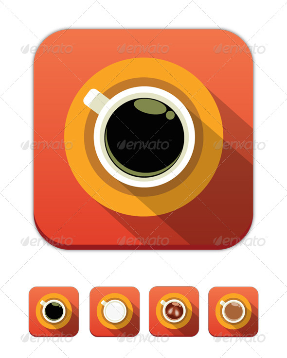 Vector Coffee Icons - Food Objects