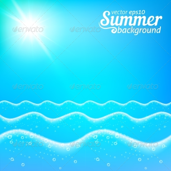 Seascape Background - Backgrounds Decorative
