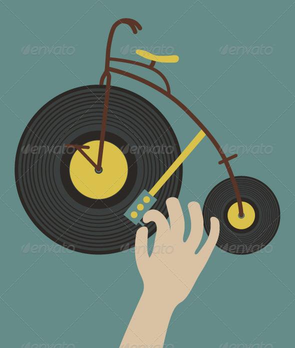 Bike Dj - Miscellaneous Vectors