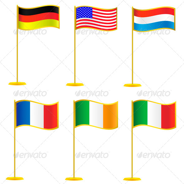 Collection of Flags. - Miscellaneous Vectors