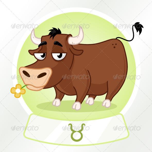 Taurus Horoscope Sign - Animals Characters