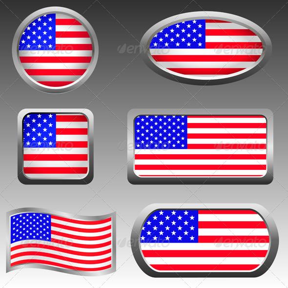 USA Icons - Vectors