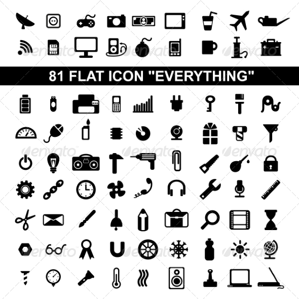 Flat Icons - Web Technology