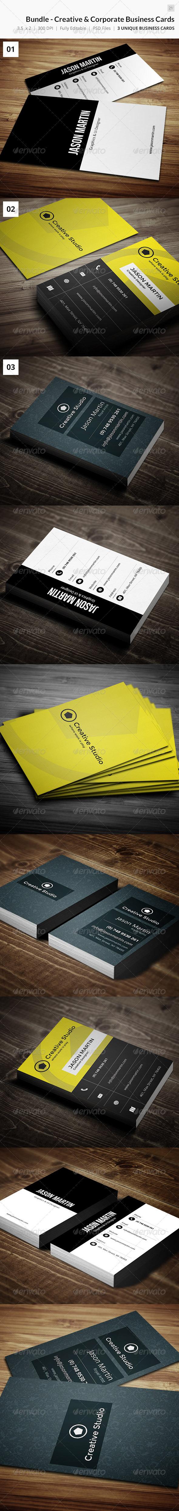 Bundle - Creative & Corporate Business Card 21 - Creative Business Cards