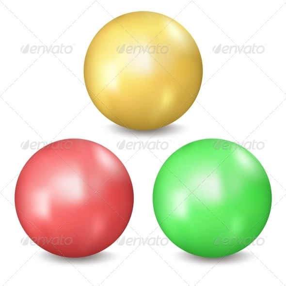 Three Balls - Objects Vectors