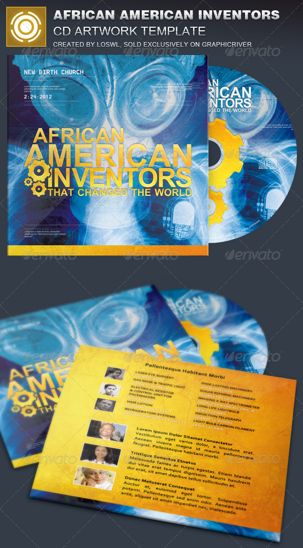 African American Inventors CD Artwork Template - CD & DVD Artwork Print Templates