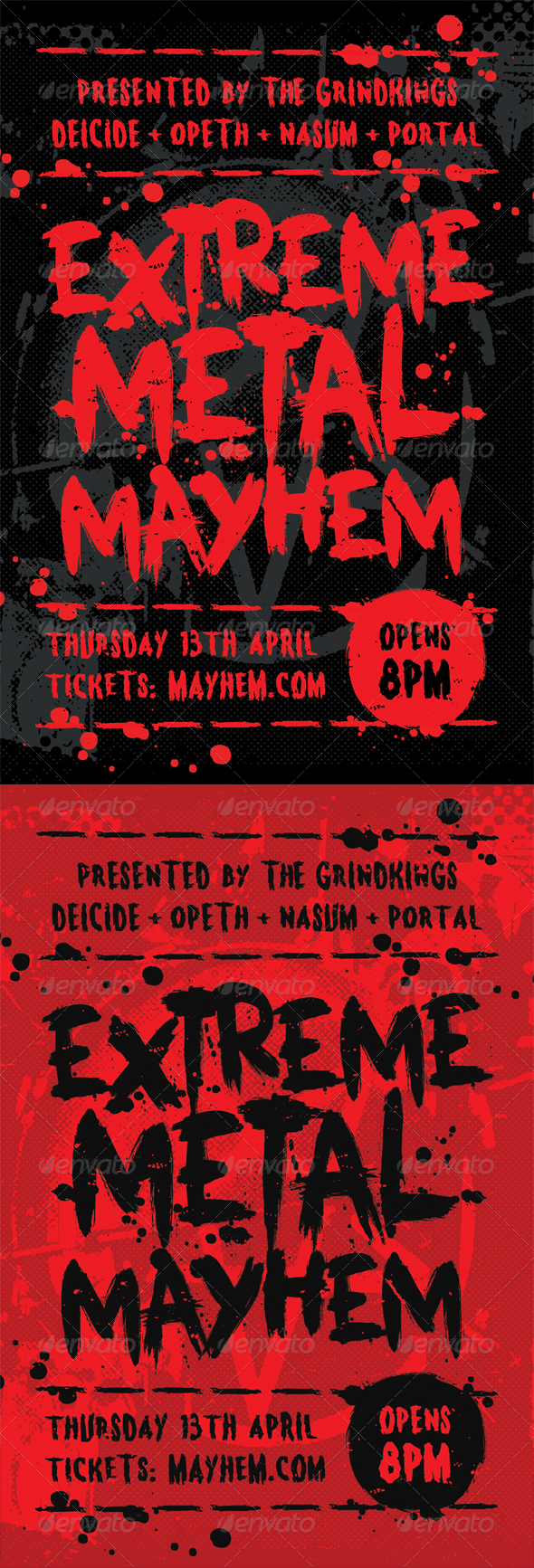 Mayhem   Heavy Metal Flyer Template   Concerts Events