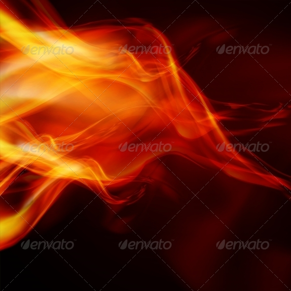 Abstract Fire Flames - Abstract Conceptual