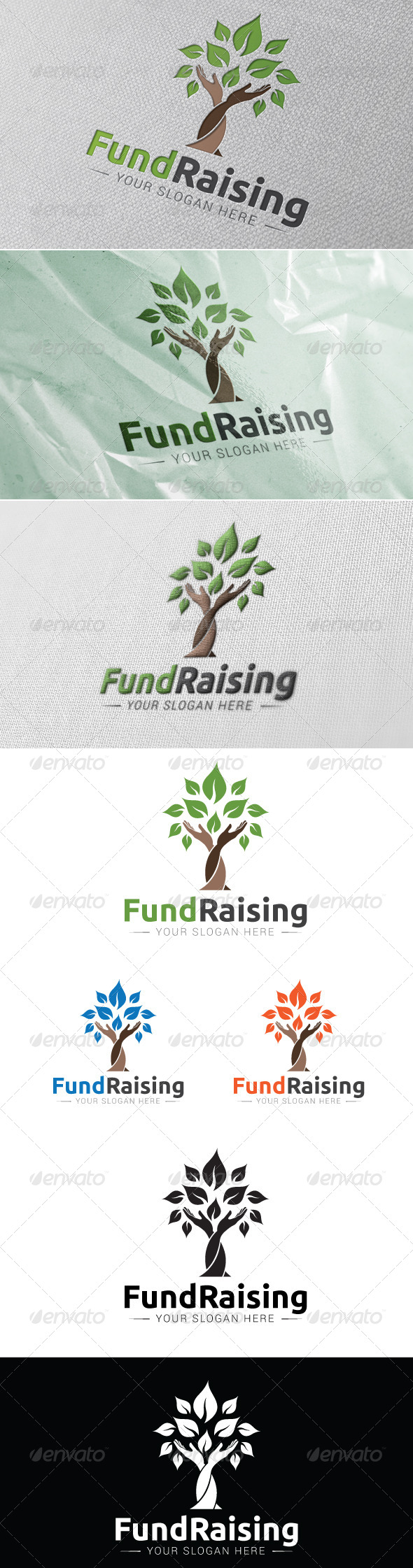 Fund Raising Logo Template - Humans Logo Templates