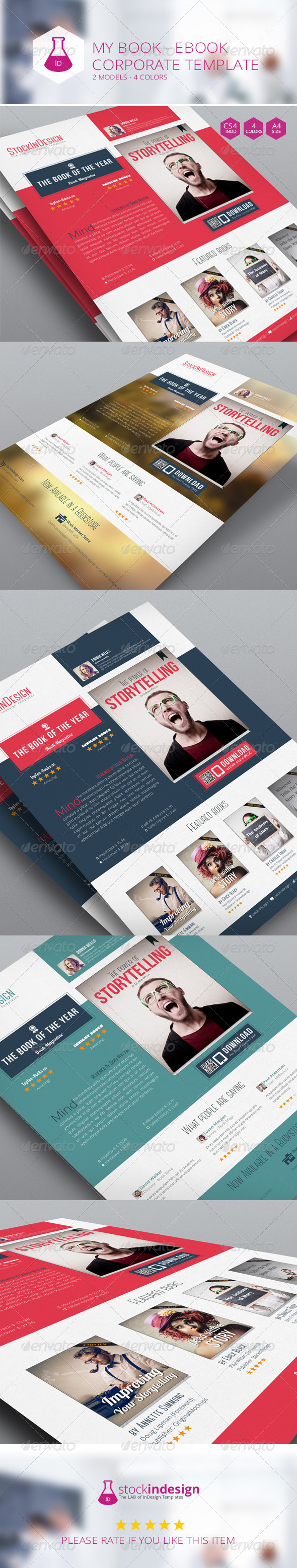 My Book Ebook Promotion - Flat Design - Corporate Flyers