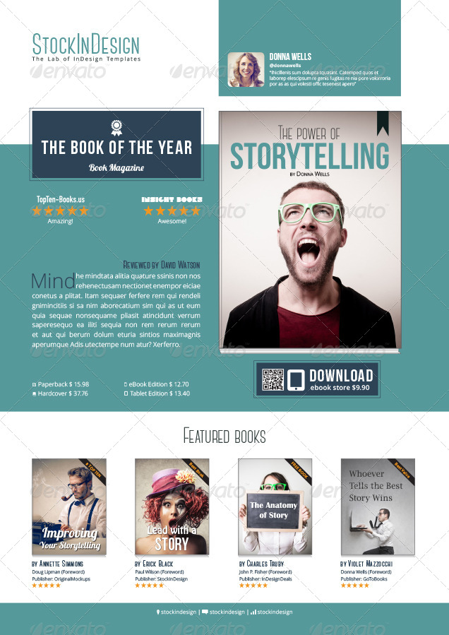 my book ebook promotion flat design by stockindesign graphicriver