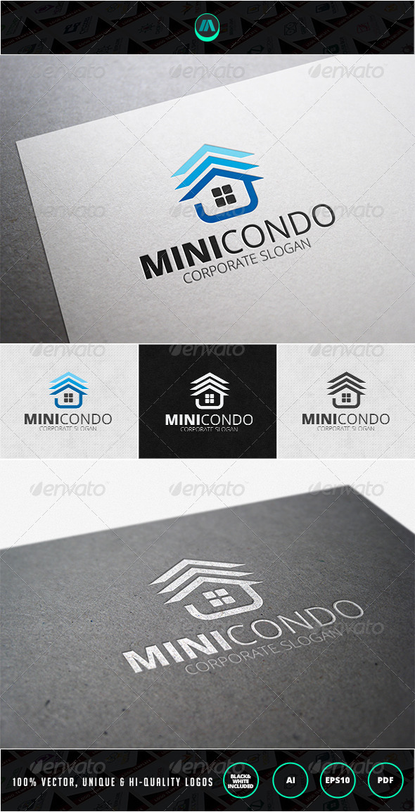 Mini Condo Logo Template - Buildings Logo Templates